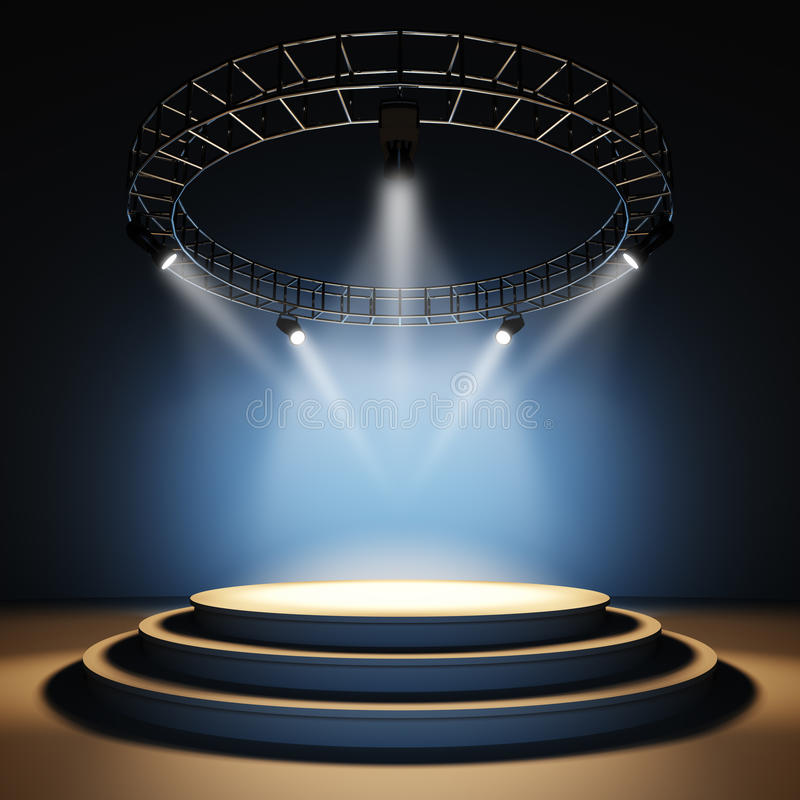 Empty stage. stock illustration