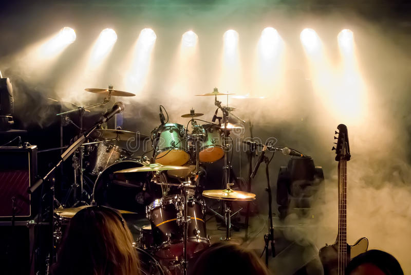 Empty Stage at concert stock photography