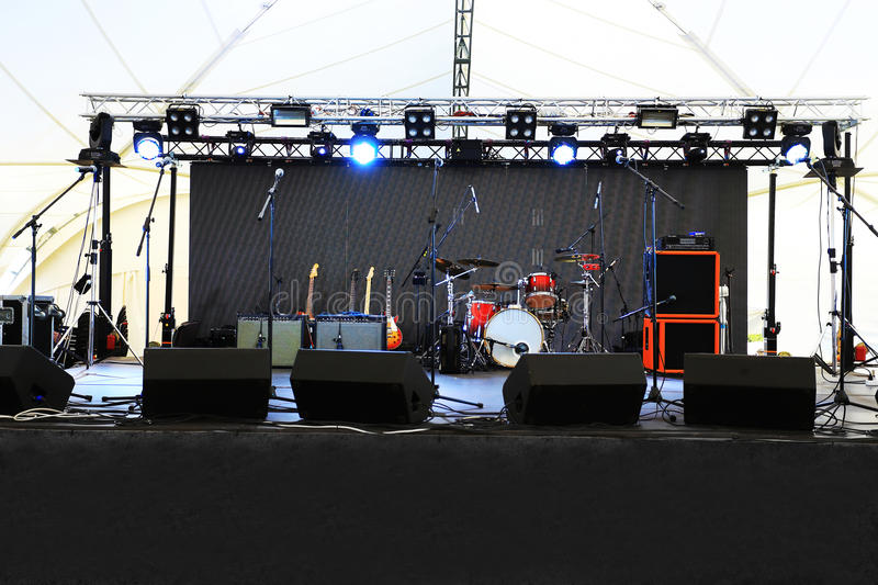 An Empty Stage Before The Concert Stock Photo - Image ...