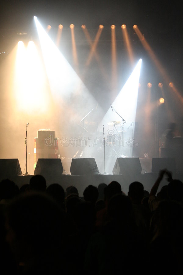 Empty Stage Lights royalty free stock images