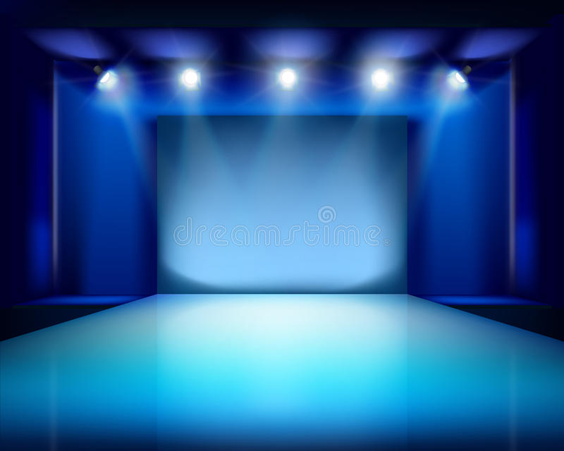 Empty Stage. Vector Illustration. Stock Vector ...