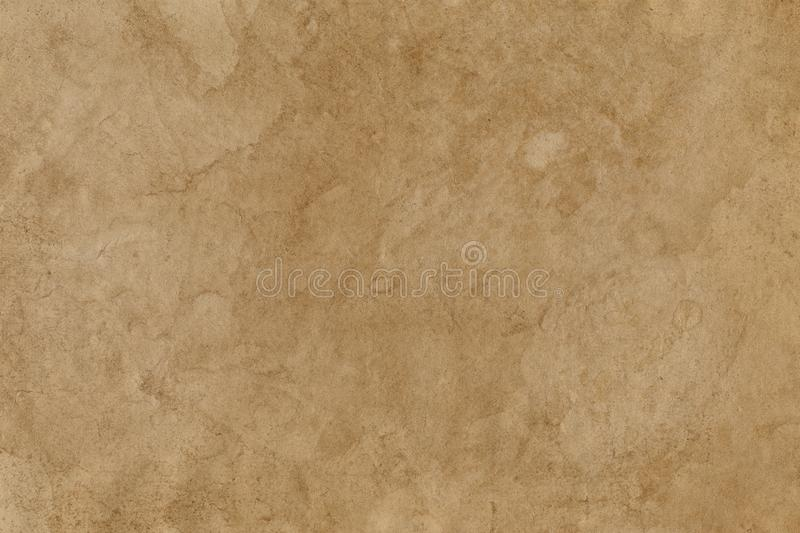 Empty stained old brown paper surface. Background or texture royalty free stock photo