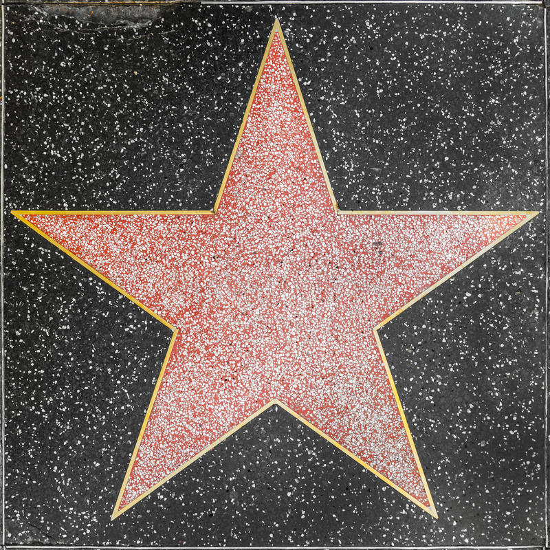 Empty Star On Hollywood Walk Of Fame Editorial Photo ...
