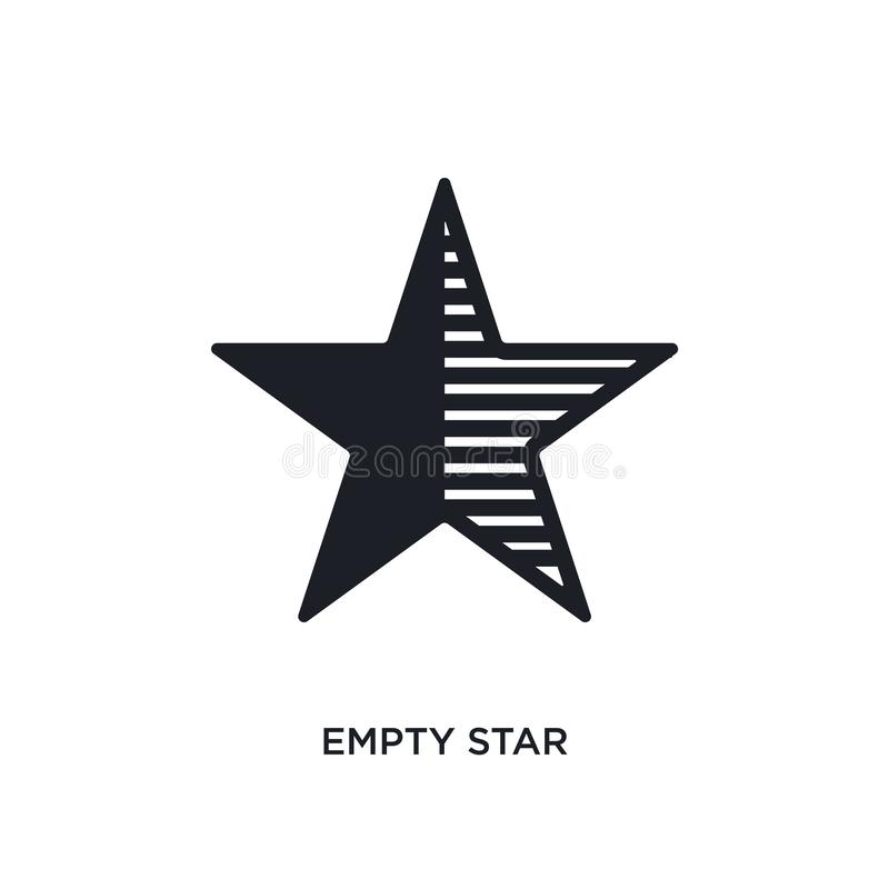 Empty star isolated icon. simple element illustration from ultimate glyphicons concept icons. empty star editable logo sign symbol. Design on white background vector illustration
