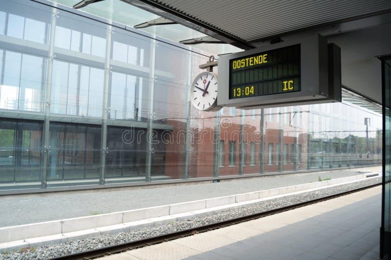 Empty station platforms stock photography