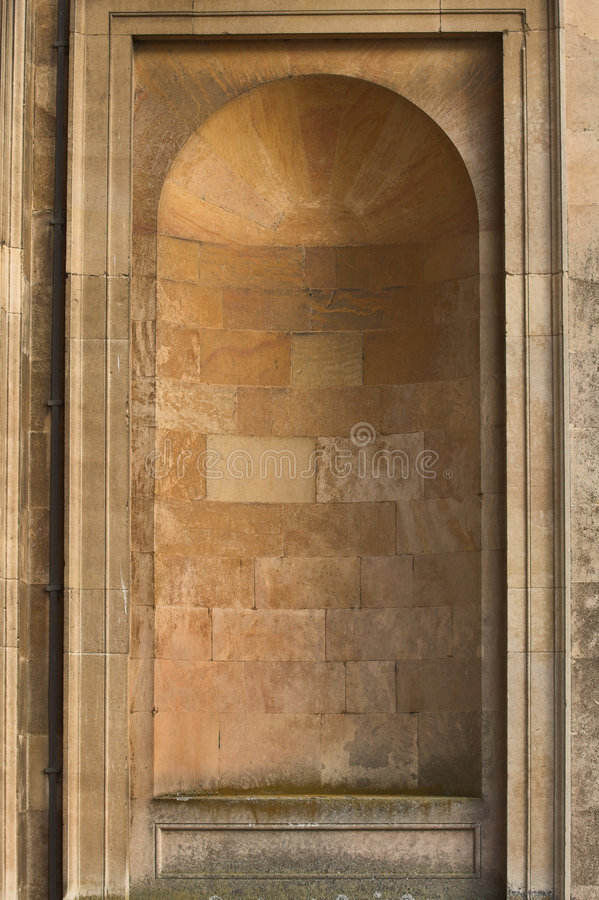 Empty Stone Alcove.  royalty free stock image