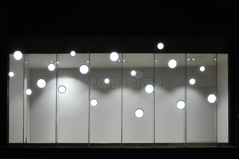 Empty store display window with led light bulbsled lamp used in download empty store display window with led light bulbsled lamp used in shop window mozeypictures Image collections