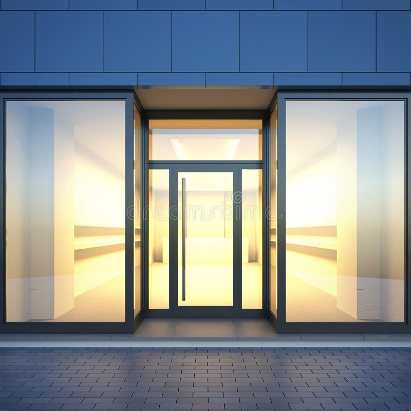 Free Empty Store Facade. Royalty Free Stock Image - 71997796