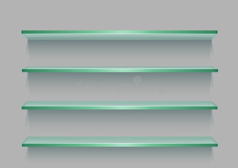 Empty store glass showcase stock illustration