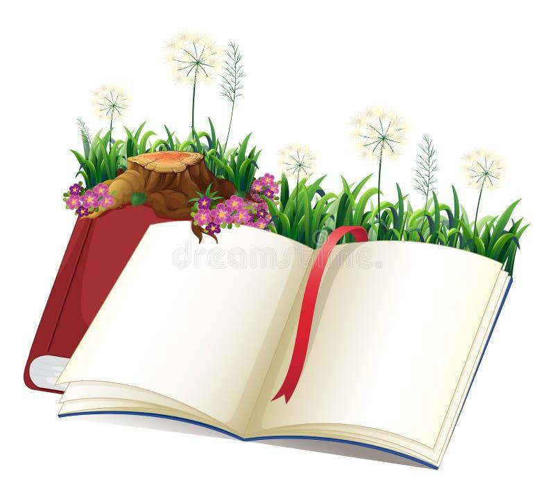 An empty storybook stock illustration