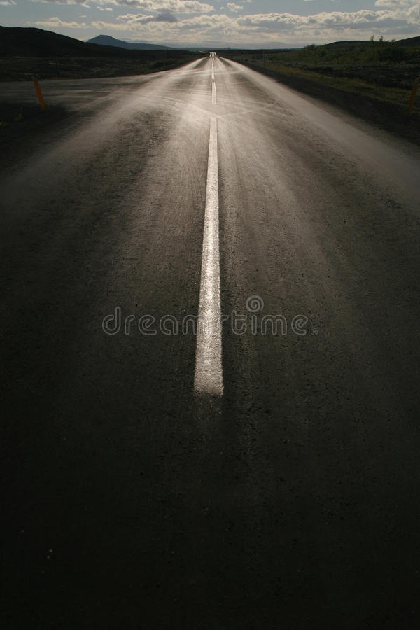 Download Empty Straight Road Against The Sun Stock Image - Image: 25701553