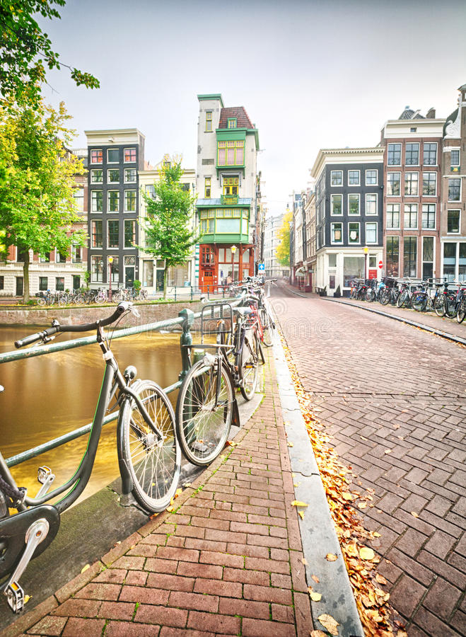 An empty street in Amsterdam stock photography
