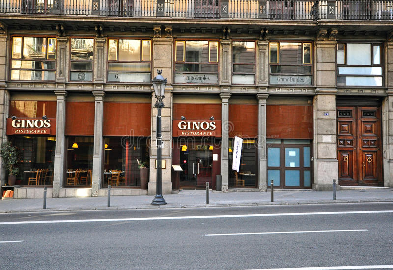 Empty street, Barcelona royalty free stock image