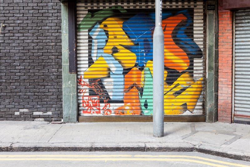 Empty street graffiti background. See my other works in portfolio stock photos