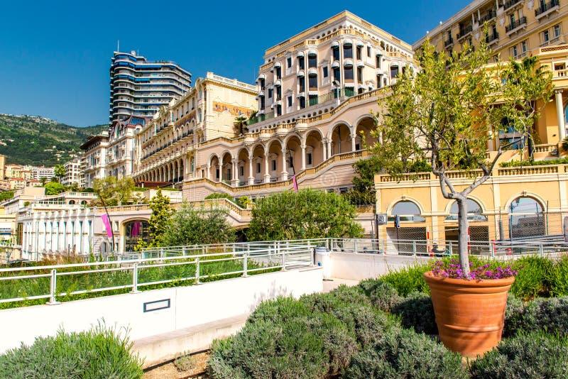 Empty street of Monaco stock image