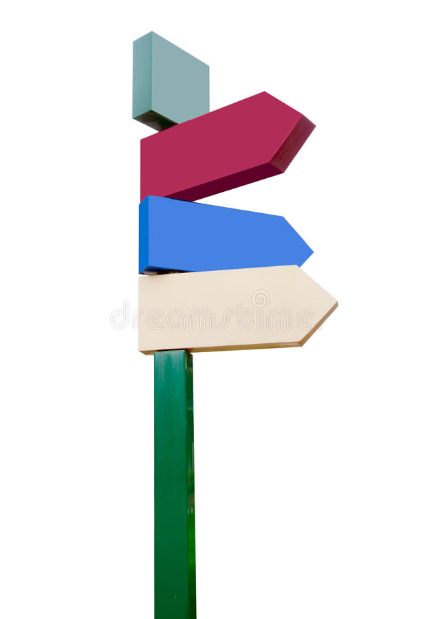 Empty Street Signs. Place your own words stock image