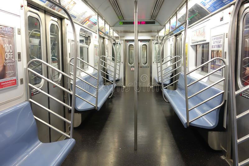 empty new york city subway car editorial image image of commute city 42624050. Black Bedroom Furniture Sets. Home Design Ideas