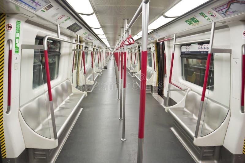 Empty subway train royalty free stock image