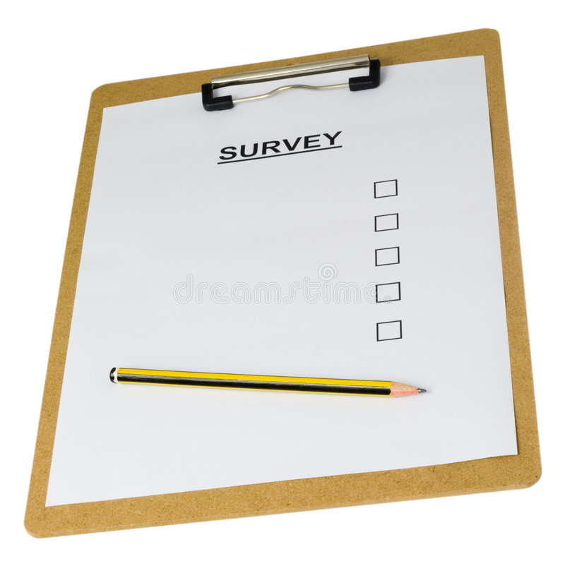 Empty survey form royalty free stock images