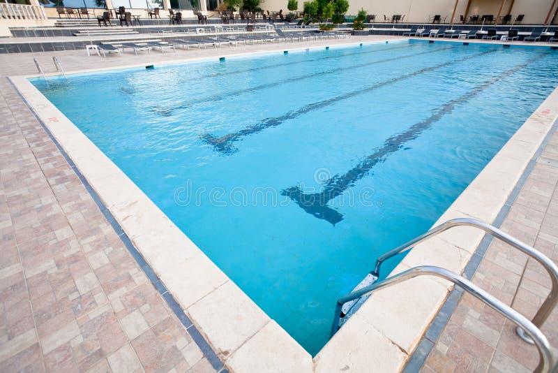 Empty swimming pool stock image