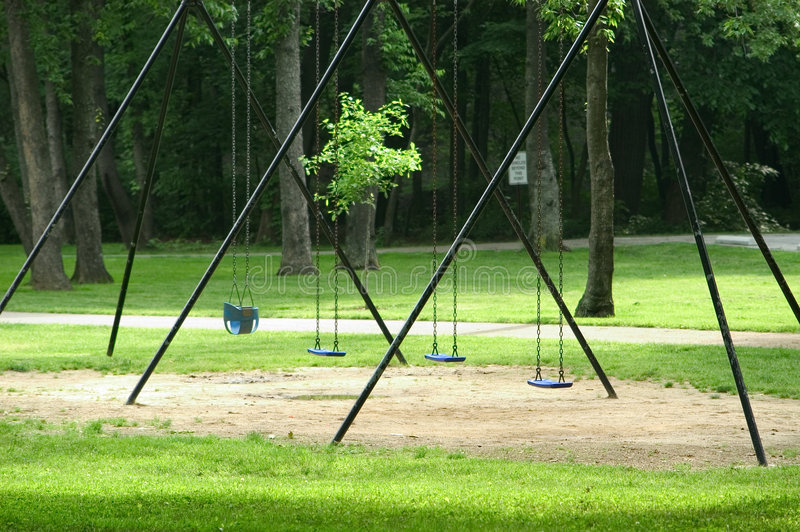 Download Empty Swings stock image. Image of swing, park, forest, swings - 3827