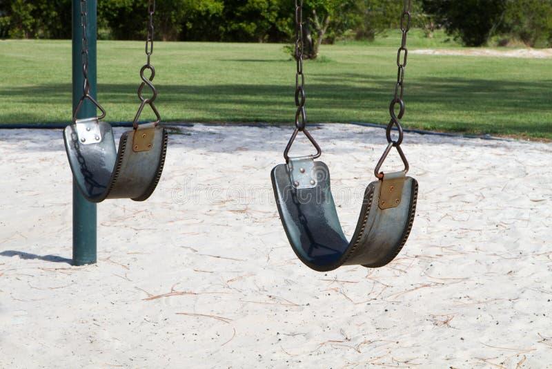 Empty Swings stock photography