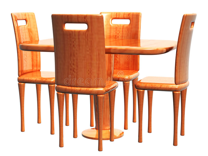 Download Empty Table And Chair_Raster Stock Illustration - Illustration: 33166684