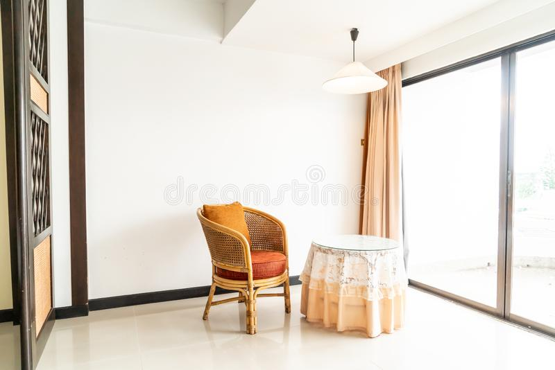 Empty table and chair decoration in living room. Interior royalty free stock photos