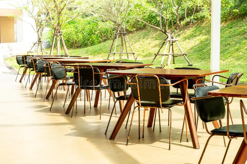 Empty table and chair. In restaurant stock images