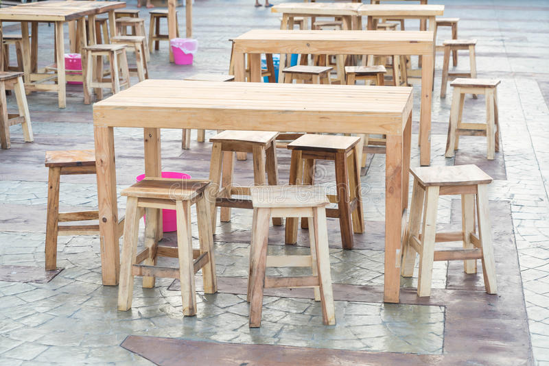 Empty table and chair. In restaurant stock photos