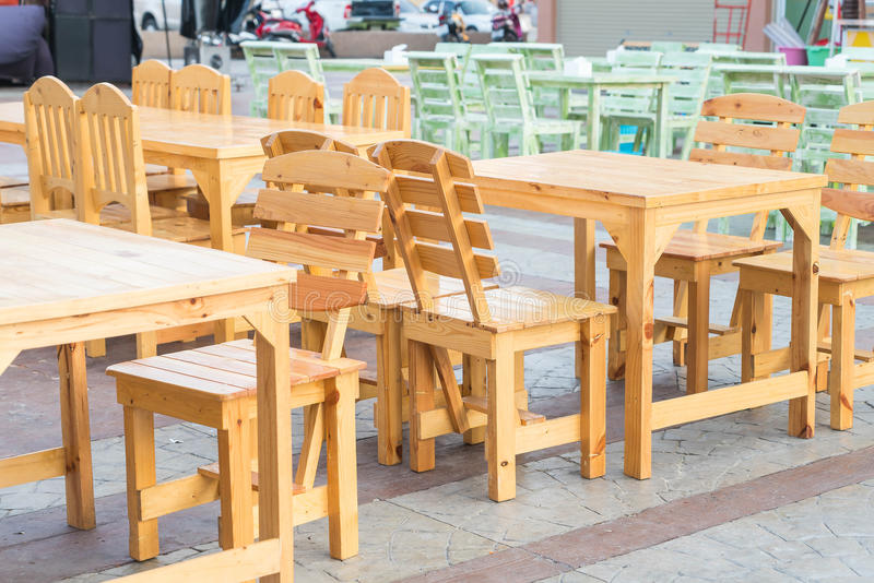Empty table and chair. In restaurant royalty free stock image