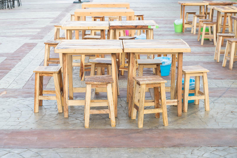 Empty table and chair. In restaurant royalty free stock photo