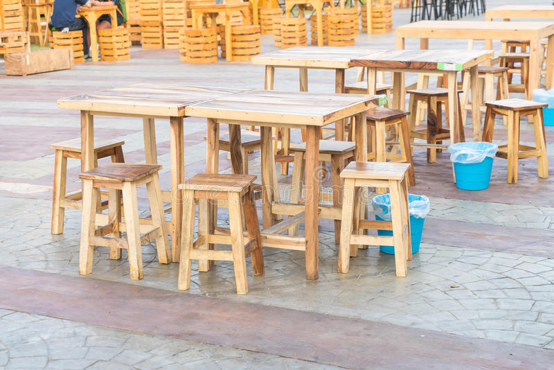 Empty table and chair. In restaurant stock image