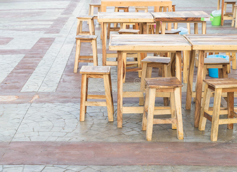 Empty table and chair. In restaurant royalty free stock photos
