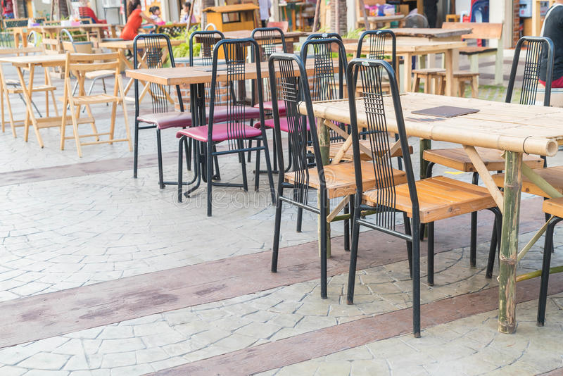 Empty table and chair. In restaurant stock photography