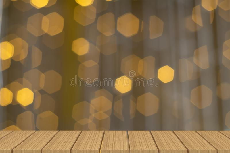 Empty table in front of light background. royalty free stock image