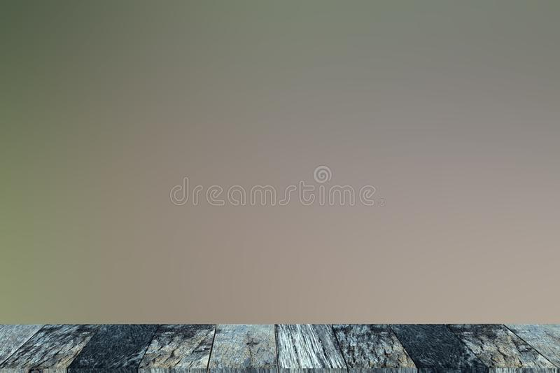 Empty table old wooden in front royalty free stock photo