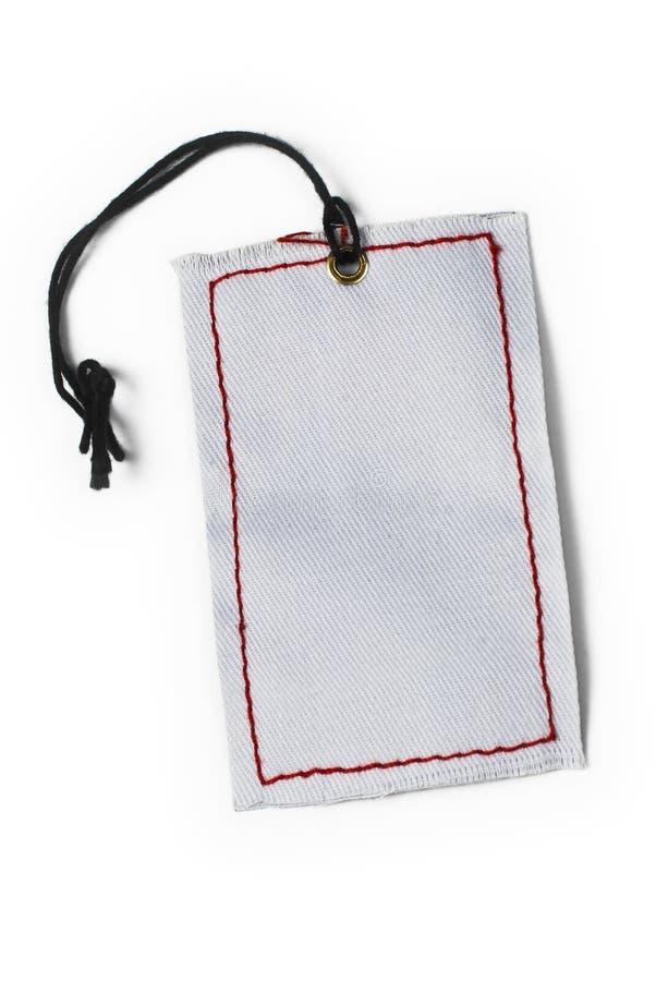 Empty tag amarrado com corda imagens de stock