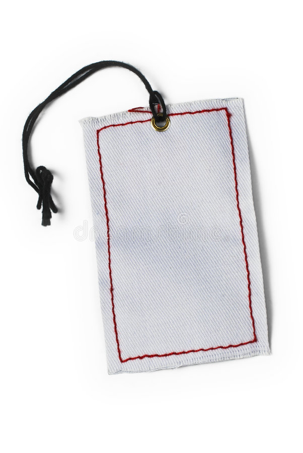 Empty tag gebunden mit Zeichenkette stockbilder