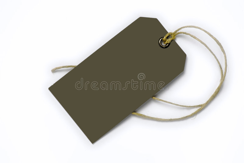 Empty tag tied with string royalty free stock photos