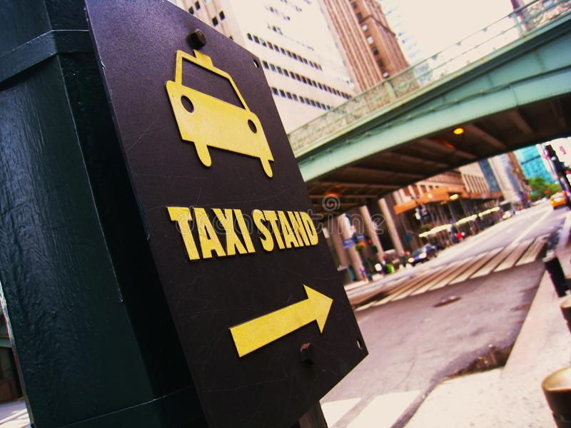 Empty taxi stand