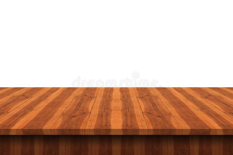 Download Empty Teak Wood Table Top On White Background,space Montage You  Stock Photo