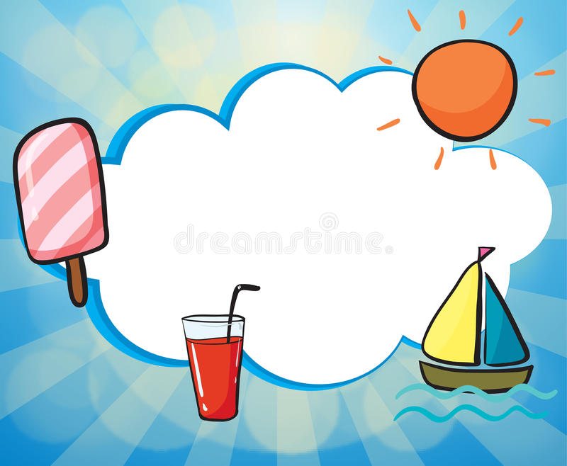 Download An Empty Template With A Taste Of Summer Stock Illustration - Illustration: 33690048