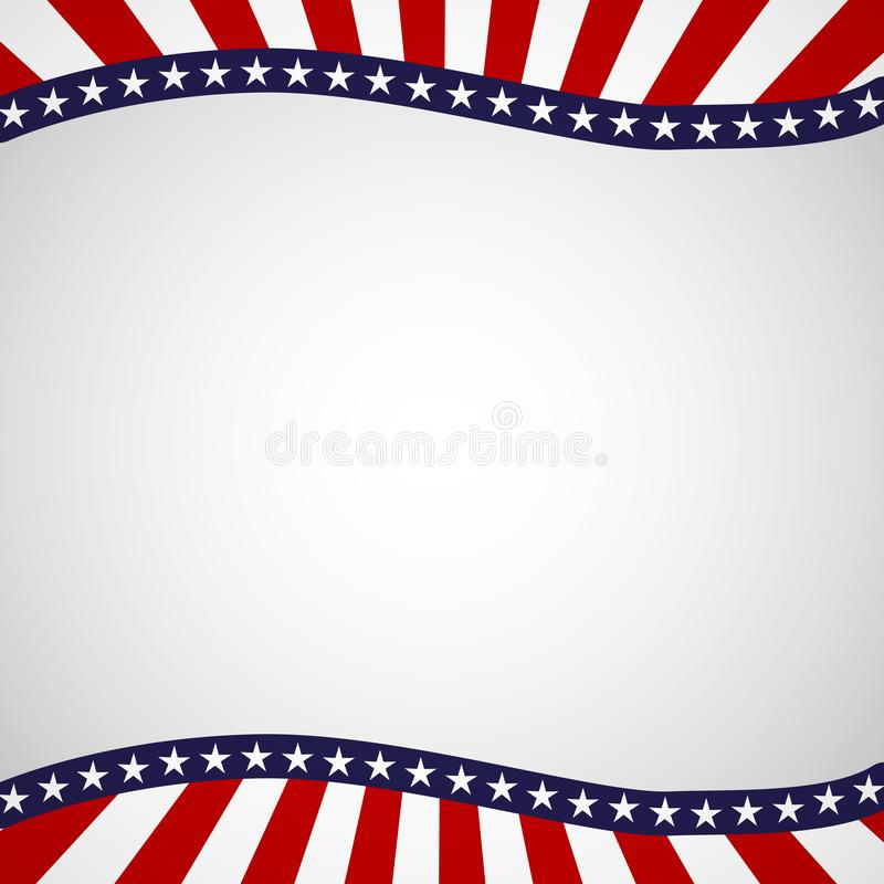 Free Empty Template With A Pattern Of Stars And Stripes Of Colors Of The National Flag Of The USA Patriotic Background For Holidays Royalty Free Stock Images - 133453119