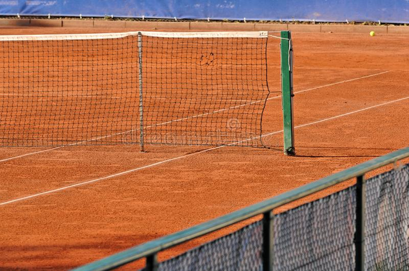Empty tennis court royalty free stock photo