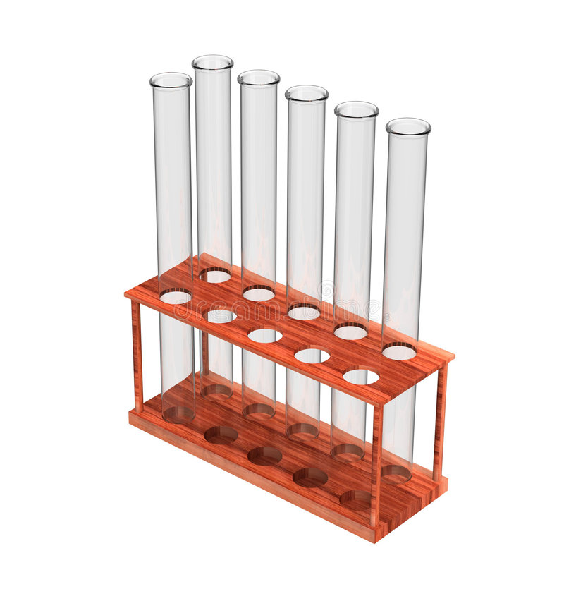 Empty test tubes stock illustration