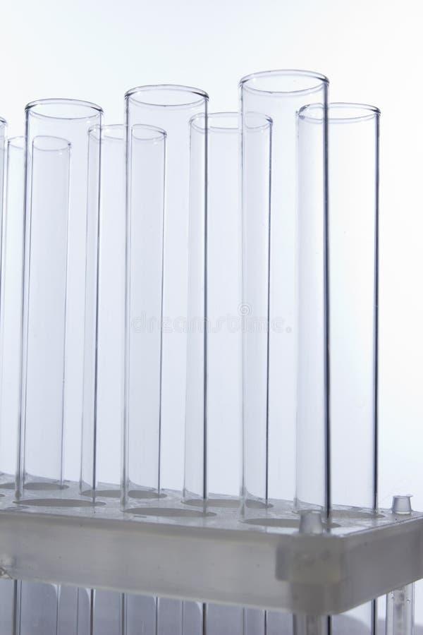 Empty test tubes royalty free stock photo