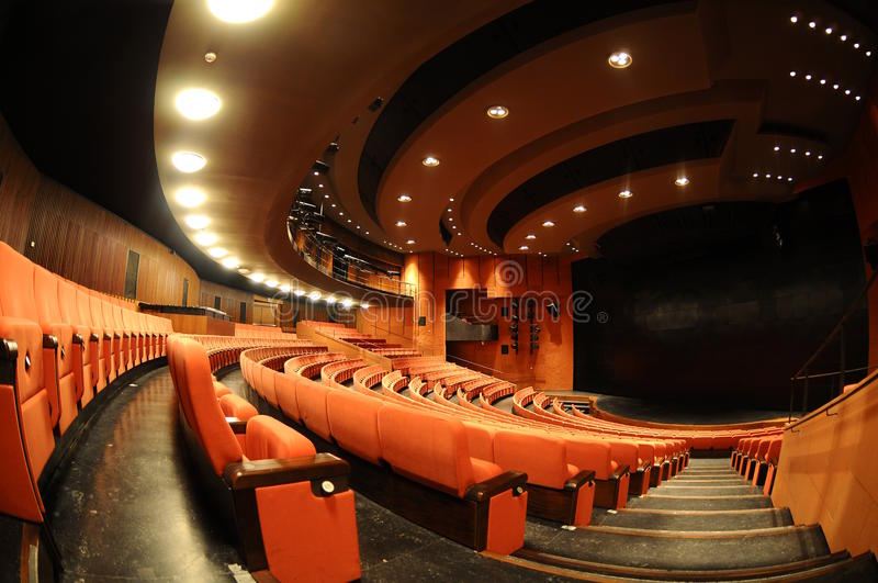 Download Empty theater stock photo. Image of stair, velvet, theater - 14124596