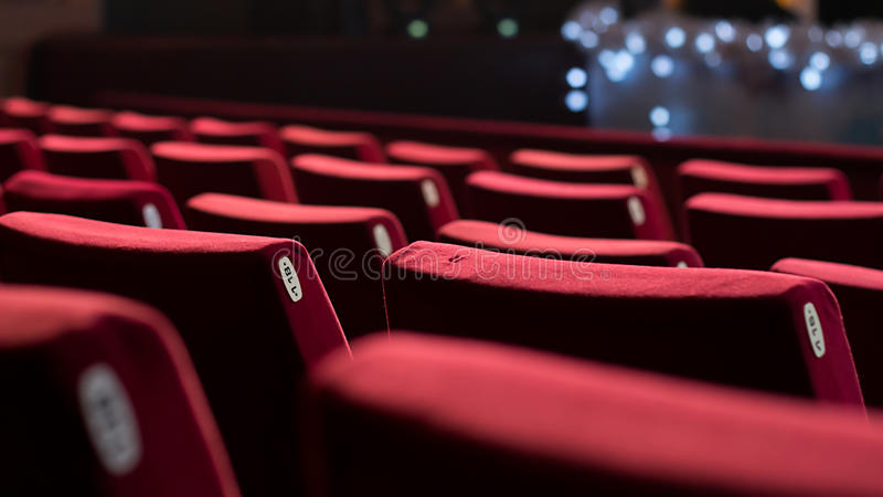 Empty Theater Chairs stock photos