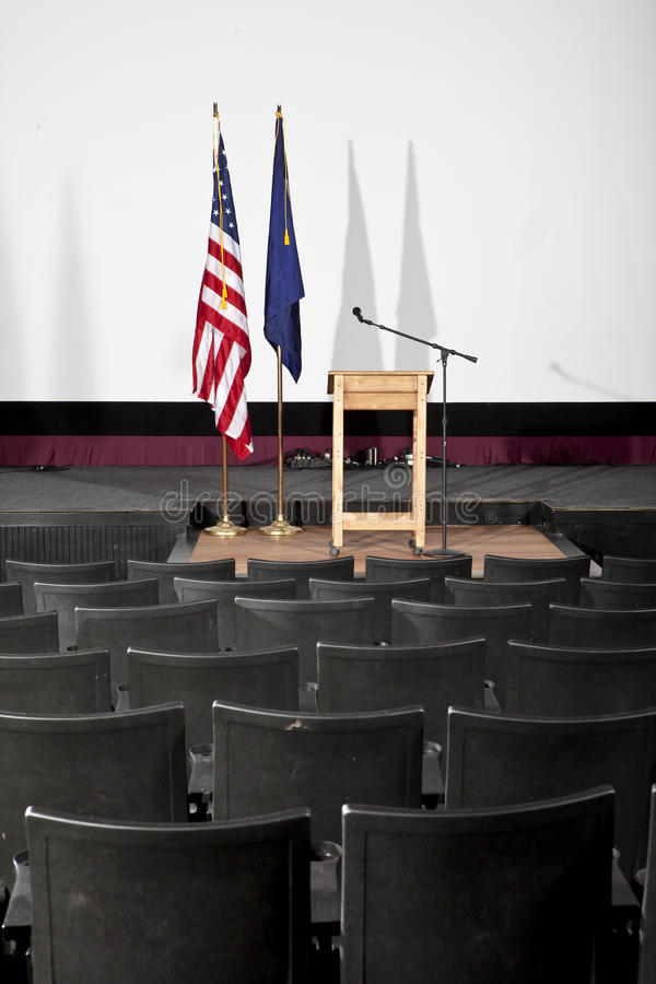 Empty theater with podium royalty free stock images